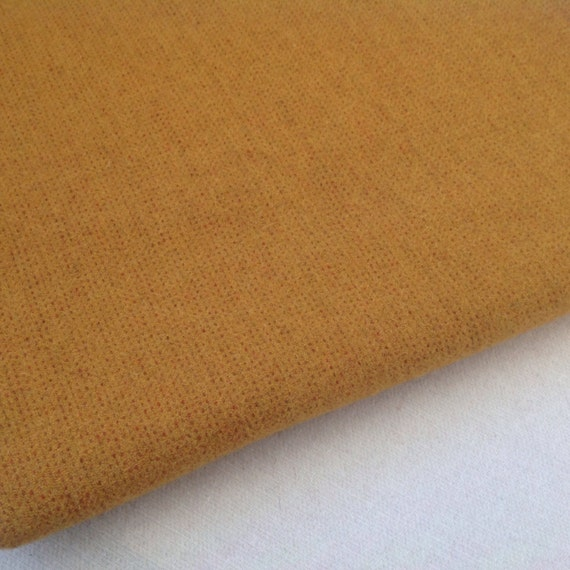 Mustard Fields, Wool Fabric for Rug Hooking and Applique, Fat Quarter Yard, J960, Bright Mustard, Primitive Gold