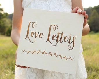 Love Letters Box Rustic Keepsake Box