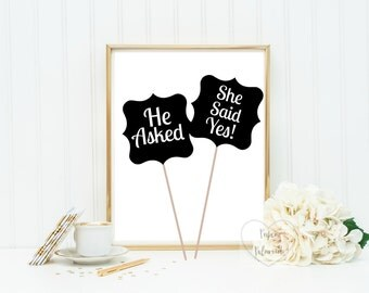 Engagement Props sign