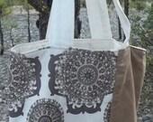 Rescued Futon Cover Sample Prewashed Market Tote Shopping Bag