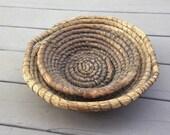 Wonderful PAIR of Old Rye Baskets