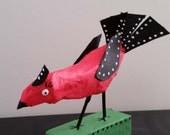 Folk Art Bird Papier Mache