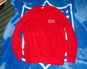 Authentic vintage Coatesville Swimming sweater Champion Blue Bar label large