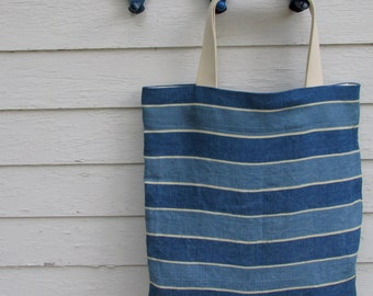 Extra Large Linen Bag // On the Go Bag //  Stylish tote bag