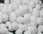 Miniature snow balls 150 pcs winter craft DIY snowballs 6mm - 11mm diameter craft decoration dollhouse embellishment kawaii decoden foam
