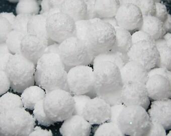 Miniature snow balls 150 pcs winter craft DIY snowballs 6mm - 11mm diameter craft decoration dollhouse embellishment kawaii decoden