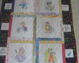 Baby Quilt - Nursery Rhymes Characters, lovely shower gift