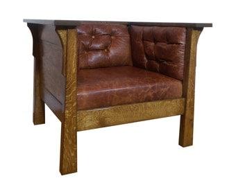 Oak Club Chair