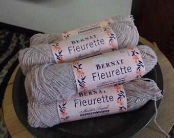 Bernat Fleurette 100% Virgin Wool Worsted Yarn