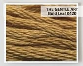 GOLD LEAF 0420 : Gentle Art GAST hand-dyed embroidery floss cross stitch thread at thecottageneedle.com