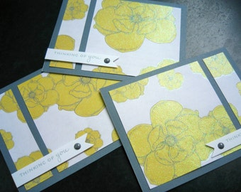 Thinking of You Card Card Set of 3, Any Occasion Cards, Just Because Cards