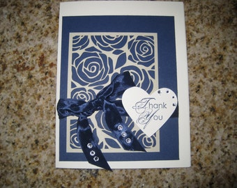 Rose Thank You Card