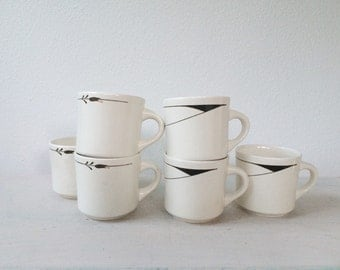 vintage cafe mugs