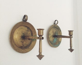Nautical Brass Candle holders