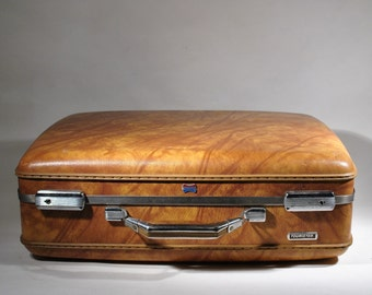 American Tourister Luggage Suitcase Brown and Tan