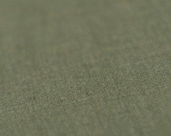 Linen fabric Moss green flax fabric by half yard Khaki