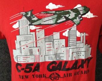 Vintage NYC C-5A Galaxy Air Gaurd t shirt USA L