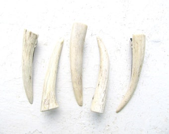 Hair Barrette Clip Natural Deer Antler - ALBA- Horn Antler Hairpiece Hair Accessories