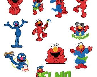 TO4 20 Sesame Street - Elmo Embroidery Designs