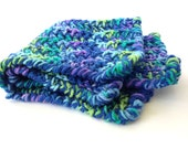Crochet Cat Mat Blue and Green Mermaid's Tail