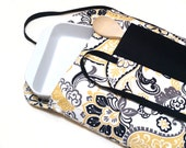 Yellow and Black Paisley Insulated Casserole Carrier