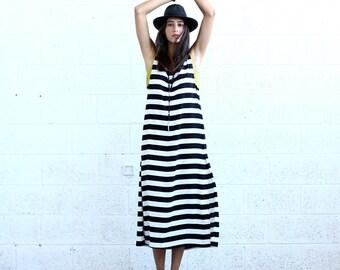 SALE!Striped Maxi dress, Black