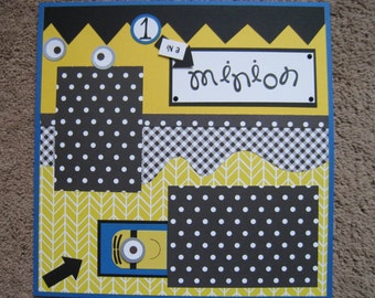 Scrapbook Layout - Minions - 12 x 12 - Double Page