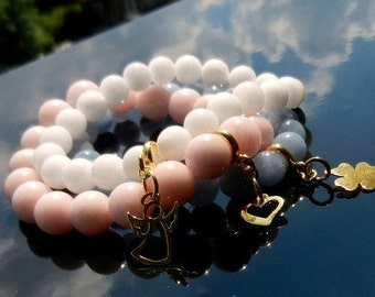 THREE Charm Bracelets Sterling Silver Vermeil