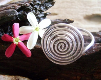 Solid Silver Bangle - The Spiral Solid Bangle (1)