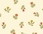 Tiger Lily Small Roses in Cream, Heather Ross, Windham Fabrics, 100% Cotton Fabric, 40930-5