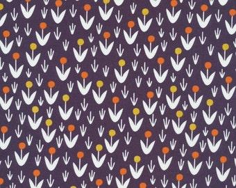 Morning Song Dotty Blooms in Dusk, Elizabeth Olwen, 100% GOTS-Certified Organic Cotton, Cloud9 Fabrics, 129712