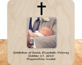 Godmother Godfather Gift Custom Personalized Picture Frame (set of 2) Godparents Gift