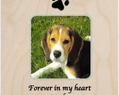 Forever in my heart Pet Loss Memorial Personalized Gift Picture Frame Sympathy Loss of Pet