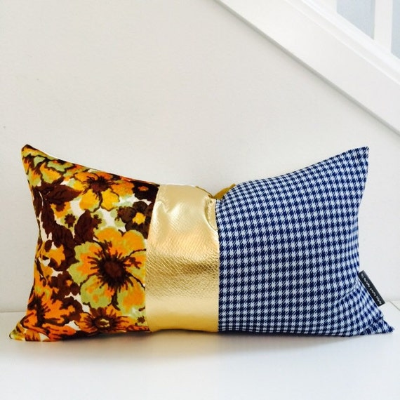 Mid Century Modern Pillow Cover 14x24 Lumbar by sheshappydesign