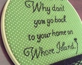 Whore Island Embroidery