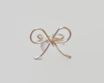 Bow Ear Cuff - Bow Ear Cuffs - Ear Cuff Bow - Wire Bow - Bow Earcuff - Wedding Bow - Wedding Jewelry - Gift Idea -