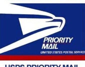 Rush shipping. Priority mail upgrade