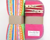 Cloth Wipes Pack of 64--Assorted Girls Mix--2 Ply Flannel--Regular--Made To Order