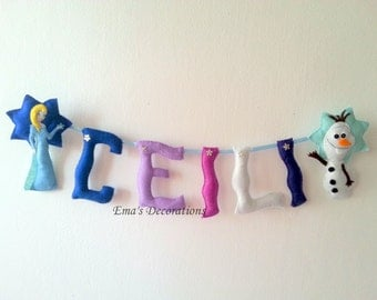 Frozen Garland Birthday, Party Decor