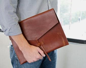 Leather Folio, leather briefcase, Ipad Case A4 size