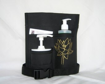 Made to Order - 3 Pocket SIDECAR Massage Holster, right hip, Hand Painted in ANY Color with belt