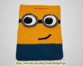Crochet Minion Bag, Minions handbag, Halloween Candy Tote, Yellow Blue Pouch, Easter, Holiday, Trick or Treat, Despicable,