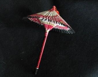 Miniature Vintage Origami Wagasa Paper Umbrella