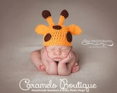 Baby Giraffe Hat-Newborn Giraffe Hat-Infant Giraffe Hat-Crochet Baby Giraffe Hat-Newborn Photo Props-Giraffe Photo Props-Baby Photo Props
