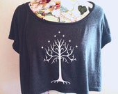 Tree of Gondor Crop Top - Inspired by Lord of the Rings ROTK - Available in 3 Colors - Made in USA by So Effing Cute
