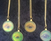 Holographic Eye Pendant Necklace 90s