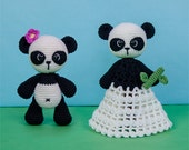 Combo Pack - Zhen the Panda Lovey and Amigurumi Set for 5.99 Dollars - PDF Crochet Pattern - Instant Download - Special Offer Pack