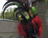 tropical fruit mini top hat fascinator