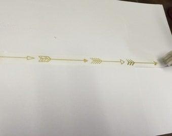 Gold arrow washi tape