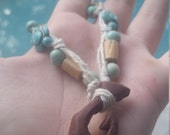 Turquoise Turtle Tribal Hook Necklace